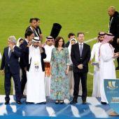 Díaz Ayuso en la final de la Supercopa en Yeda, Arabia Saudí