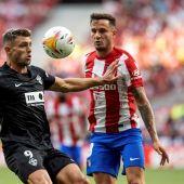 Saúl Ñíguez durante un partido de liga con el Atleti