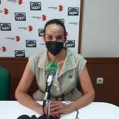Eva Masías en los estudios de Onda Cero Ciudad Real