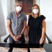 Ana Carrera e Isidoro Gambín en rueda de prensa
