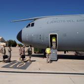 Salida de uno de los aviones hacia Afganistán