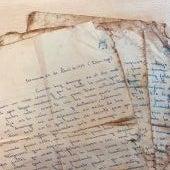 Una operaria de la planta de tratamiento de la Costa del Sol encuentra una carta de un soldado a su novia de hace 50 años