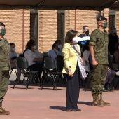 La ministra de Defensa, Margarita Robles, ha visitado este viernes la Brigada Extremadura XI en la Base General Menacho en Bótoa