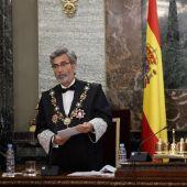 El presidente del Poder Judicial, Carlos Lesmes, con el Rey Felipe VI