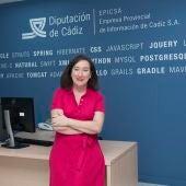 La vicepresidenta de EPICSA, Isabel Gallardo