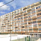 Los conocidos edificios Pullman  de Cala Major, en Palma