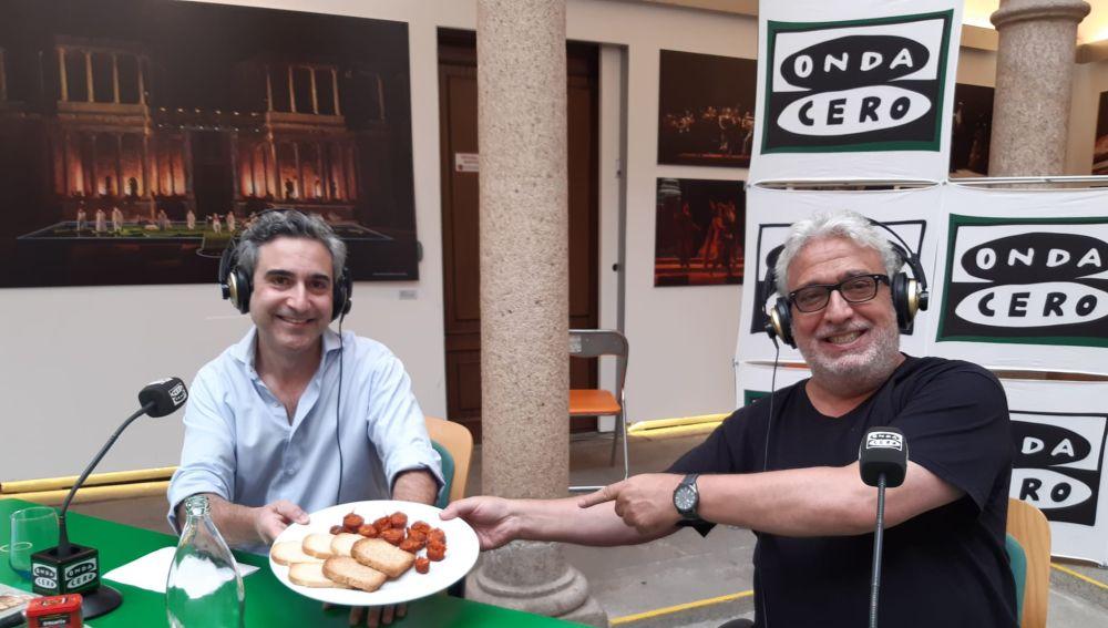 Leo Harlem y Francisco Acedo, de embutidos Farcedo, Badajoz