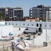 Los barracones instalados en el CEIP María Zambrano tienen capacidad para 12 aulas
