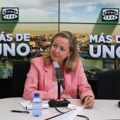 Nadia Calviño en 'Más de uno'