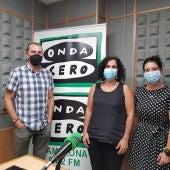 Idoia Oneca, de CEAR, y Loreto León, de Cruz Roja Navarra