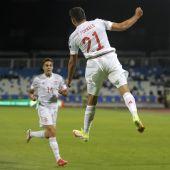 Fornals celebra su gol ante Kosovo