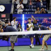 Carlos Alcaraz se retira en los cuartos de final del US Open