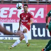 Iván Casado, jugador grana, en el Real Murcia - Marchamalo