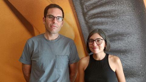 Samuel M. Delgado y Helena Girón, directores de 'Eles transportan a morte', en la Mostra de Venecia 2021