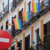 Una fachada en el barrio de Malasaña (Madrid)