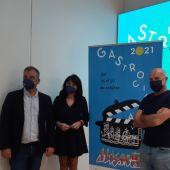 Seva, Parra y Crespo en la presentación del cartel de 'Gastro Cinema'