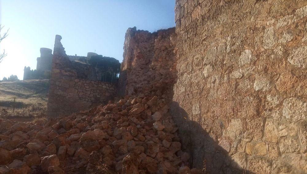 Parte de la muralla derrumbada, en una imagen de archivo de 2020