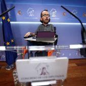 El portavoz de Podemos, Pablo Echenique