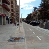 Carril bici en el Paseo Ramón y Cajal