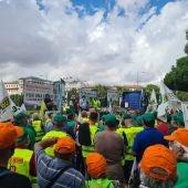 Protesta de los agricultores a las puertas del ministerio