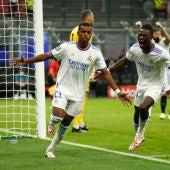 Rodrygo celebra su gol ante el Inter
