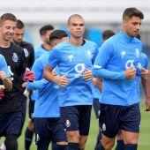 Entrenamiento del Porto previo al partido ante el Atleti de Champions