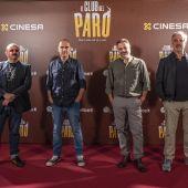 Los actores Carlos Areces, Eric Francés y Adrià Collado acompañan al cineasta ibicenco David Marqués tras su participación en la comedia 'El club del paro'
