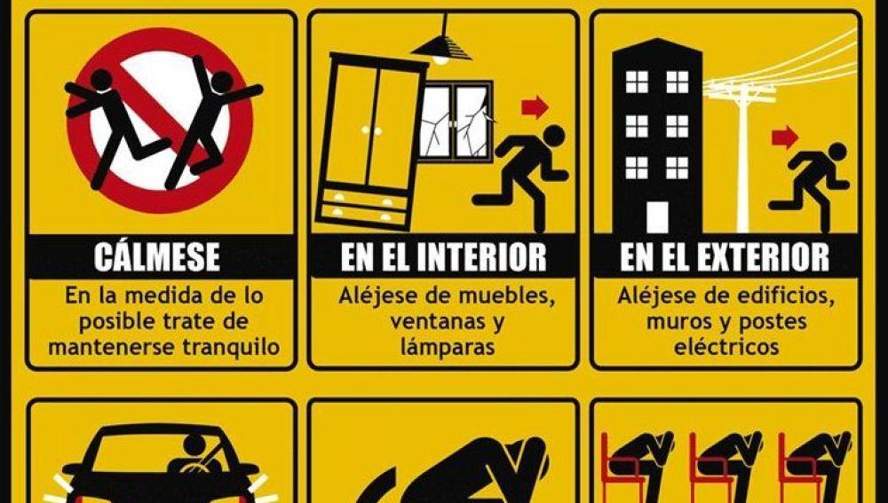 ¿Qué hacer durante un terremoto?