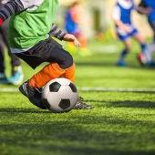 Foto de archivo de una competición de fútbol infantil