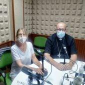 Ángeles Polo con el Obispo de Teruel