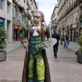 Los vándalos se cebaron con la estatua de Goya en la calle Alfonso