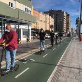 Un grupo de usuarios de VMP en Cádiz