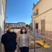 Melchor y Ortega visitando obras