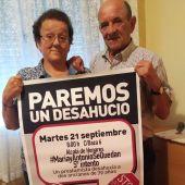 María y Antonio se enfrentan al 5º intento de desahucio de su vivienda en el barrio de Reyes Católicos, en Alcalá de Henares
