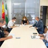 Reunión en el Ayuntamiento de San Fernando celebrada ayer