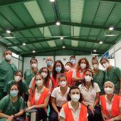 Algunos de los profesionales sanitarios que han trabajado en el centro de vacunación masiva de Inca.