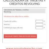 Calculadora Revolving