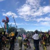 concentración de los #BomberosForestalesEnLuchaCyL