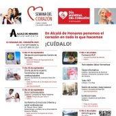 Cartel de la IX Semana del Corazón de Alcalá de Henares