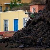 Todoque arrasado por la lava en La Palma