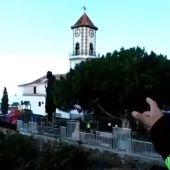 El esfuerzo sobrehumano de los bomberos para intentar salvar la iglesia y el cementerio de Todoque