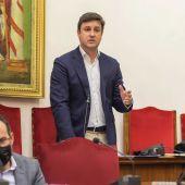 Eduardo García-Ontiveros durante un pleno del Ayuntamiento.