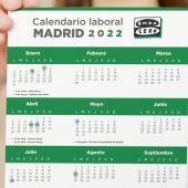 El calendario laboral de Madrid para 2022: días festivos