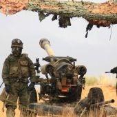 Militares de la Brigada Galicia VII realizando maniobras
