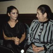 Isabel Pantoja con su madre, Ana Martín
