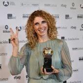 Asun Noales en el Teatro Arriaga de Bilbao con el Premio Max a la Mejor Coreografía.