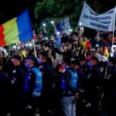 Protestas contra las restricciones en Bucarest, Rumanía