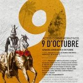 Cartel y programa de los actos del 9 d'Octubre en Alicante