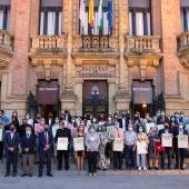 Representantes de entidades reconocidas por la fundación Magtel