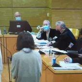 Las forenses durante su declaración en la vista oral